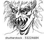 monster face | Shutterstock . vector #53224684