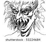 monster face   Shutterstock . vector #53224684