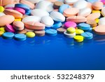 Colored Pills  Tablets And...