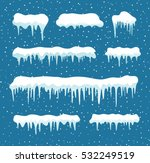 set of cartoon snow design... | Shutterstock .eps vector #532249519