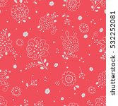 seamless floral pattern with... | Shutterstock .eps vector #532252081