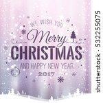 christmas and new year... | Shutterstock .eps vector #532255075