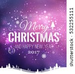 christmas and new year... | Shutterstock .eps vector #532255111