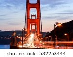 golden gate bridge at night ... | Shutterstock . vector #532258444