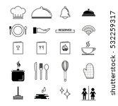 kitchen icons set for restaurant   Shutterstock .eps vector #532259317