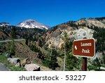 sign pointing to mt. lassen | Shutterstock . vector #53227
