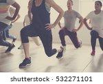 diversity people exercise class ... | Shutterstock . vector #532271101