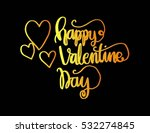 happy valentine's day... | Shutterstock .eps vector #532274845
