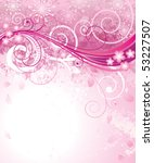 Abstract Pink Floral Backgroun...