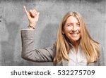 senior beautiful woman rock sign | Shutterstock . vector #532275709