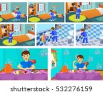 boy character in the morning. | Shutterstock . vector #532276159