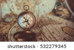 antique compass and old world... | Shutterstock . vector #532279345
