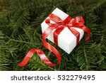 christmas gift with decorative... | Shutterstock . vector #532279495