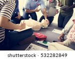cpr first aid training concept | Shutterstock . vector #532282849