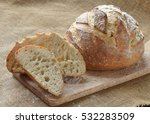 french artisan bread loaf | Shutterstock . vector #532283509