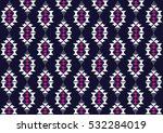 geometric ethnic pattern... | Shutterstock .eps vector #532284019