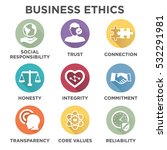 business ethics solid icon set... | Shutterstock .eps vector #532291981