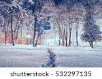 winter landscape   city park... | Shutterstock . vector #532297135