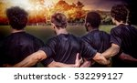 3d rugby pitch against rugby... | Shutterstock . vector #532299127