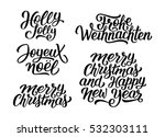 merry christmas and happy new... | Shutterstock .eps vector #532303111