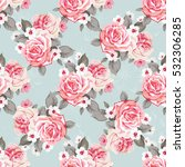 seamless floral pattern with... | Shutterstock .eps vector #532306285
