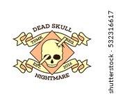 skull skeleton logo design... | Shutterstock .eps vector #532316617