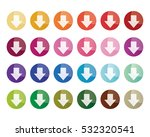 colorful gradient circle close... | Shutterstock .eps vector #532320541