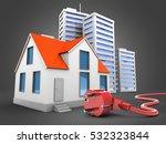 3d illustration of house over... | Shutterstock . vector #532323844