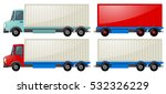 two trucks with storage wagon | Shutterstock .eps vector #532326229