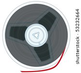 magnetic tape reel on white... | Shutterstock .eps vector #53232664