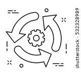 synchronization vector icon | Shutterstock .eps vector #532328989