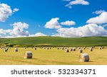 Field Of Hay Bale