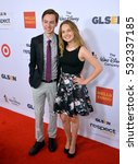 Small photo of BEVERLY HILLS, CA. October 21, 2016: Actor Hayden Byerly & actress Alyssa Jirrels at the 2016 GLSEN Respect Awards at the Beverly Wilshire Hotel.