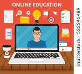 training  education  online...   Shutterstock .eps vector #532342489