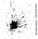 vector grunge blot far spread... | Shutterstock .eps vector #532343704