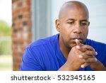 depression.  sad african... | Shutterstock . vector #532345165