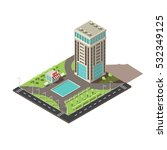 isometric office building... | Shutterstock .eps vector #532349125