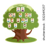 family tree template with... | Shutterstock .eps vector #532349257