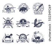 emblems of hunting clubs and... | Shutterstock .eps vector #532349269
