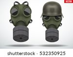 Set Of Military Gas Masks With...