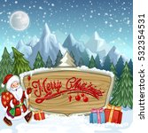 christmas banners with santa... | Shutterstock . vector #532354531