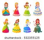 princesses girls vector cute... | Shutterstock .eps vector #532355125