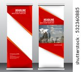 roll up business brochure flyer ... | Shutterstock .eps vector #532360885