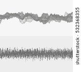 segmented vector audio waves.... | Shutterstock .eps vector #532368355