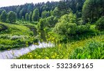 Wild River In Forest  Russian...