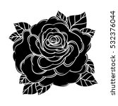 flowers roses  black and white. ... | Shutterstock .eps vector #532376044
