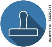 stamp icon vector flat design... | Shutterstock .eps vector #532382161