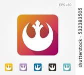 colored icon of star wars... | Shutterstock .eps vector #532383505