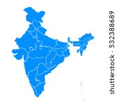 blue map of india | Shutterstock .eps vector #532388689