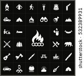 bonfire icon. camping icons... | Shutterstock . vector #532389931